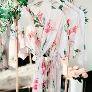 Other - Floral Pink Blush Green Bridesmaids Wedding Robes